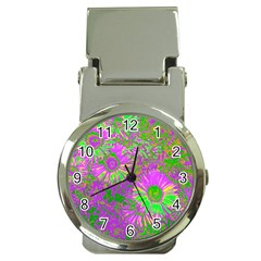 Amazing Neon Flowers A Money Clip Watches