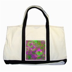 Amazing Neon Flowers A Two Tone Tote Bag