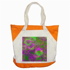 Amazing Neon Flowers A Accent Tote Bag