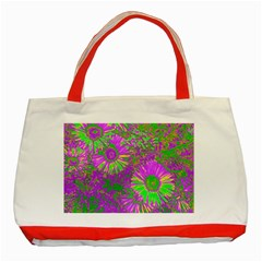 Amazing Neon Flowers A Classic Tote Bag (red)