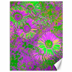 Amazing Neon Flowers A Canvas 36  X 48