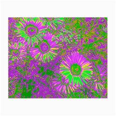 Amazing Neon Flowers A Small Glasses Cloth (2 Side)