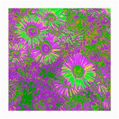 Amazing Neon Flowers A Medium Glasses Cloth (2 Side)