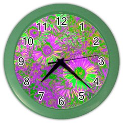 Amazing Neon Flowers A Color Wall Clocks