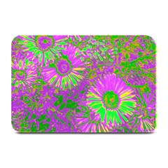 Amazing Neon Flowers A Plate Mats