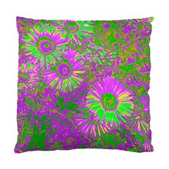 Amazing Neon Flowers A Standard Cushion Case (two Sides)