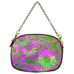 Amazing Neon Flowers A Chain Purses (two Sides)