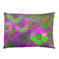 Amazing Neon Flowers A Pillow Case