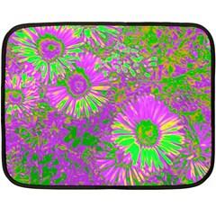 Amazing Neon Flowers A Fleece Blanket (mini)