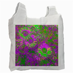 Amazing Neon Flowers A Recycle Bag (one Side)