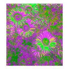 Amazing Neon Flowers A Shower Curtain 66  X 72  (large)