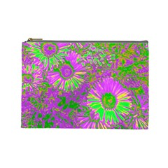 Amazing Neon Flowers A Cosmetic Bag (large)