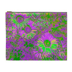Amazing Neon Flowers A Cosmetic Bag (xl)
