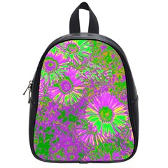 Amazing Neon Flowers A School Bag (small)