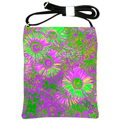 Amazing Neon Flowers A Shoulder Sling Bags