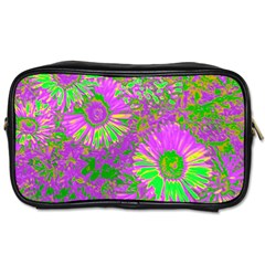 Amazing Neon Flowers A Toiletries Bags 2 Side