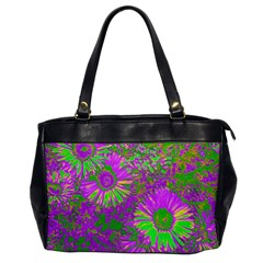 Amazing Neon Flowers A Office Handbags