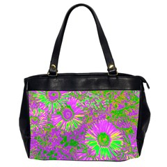 Amazing Neon Flowers A Office Handbags (2 Sides)