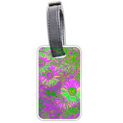 Amazing Neon Flowers A Luggage Tags (two Sides)
