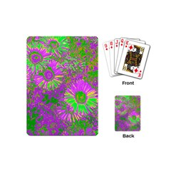 Amazing Neon Flowers A Playing Cards (mini)