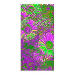 Amazing Neon Flowers A Shower Curtain 36  X 72  (stall)