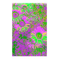 Amazing Neon Flowers A Shower Curtain 48  X 72  (small)