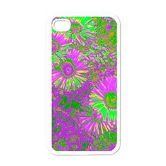 Amazing Neon Flowers A Apple Iphone 4 Case (white)