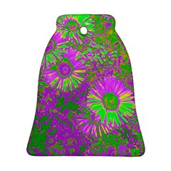 Amazing Neon Flowers A Ornament (bell)