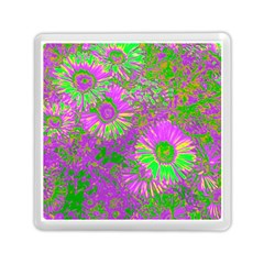 Amazing Neon Flowers A Memory Card Reader (square)