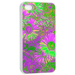 Amazing Neon Flowers A Apple Iphone 4/4s Seamless Case (white)