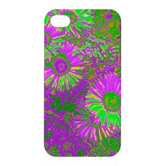 Amazing Neon Flowers A Apple Iphone 4/4s Hardshell Case