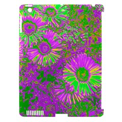 Amazing Neon Flowers A Apple Ipad 3/4 Hardshell Case (compatible With Smart Cover)