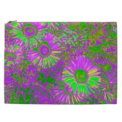 Amazing Neon Flowers A Cosmetic Bag (xxl)