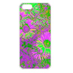 Amazing Neon Flowers A Apple Iphone 5 Seamless Case (white)