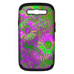 Amazing Neon Flowers A Samsung Galaxy S Iii Hardshell Case (pc+silicone)