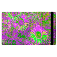 Amazing Neon Flowers A Apple Ipad 3/4 Flip Case