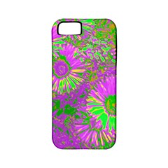 Amazing Neon Flowers A Apple Iphone 5 Classic Hardshell Case (pc+silicone)