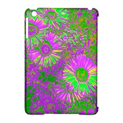 Amazing Neon Flowers A Apple Ipad Mini Hardshell Case (compatible With Smart Cover)