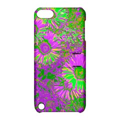 Amazing Neon Flowers A Apple Ipod Touch 5 Hardshell Case With Stand