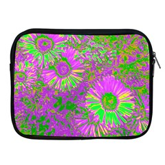 Amazing Neon Flowers A Apple Ipad 2/3/4 Zipper Cases