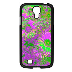 Amazing Neon Flowers A Samsung Galaxy S4 I9500/ I9505 Case (black)