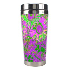 Amazing Neon Flowers A Stainless Steel Travel Tumblers