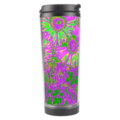 Amazing Neon Flowers A Travel Tumbler