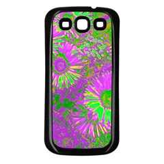 Amazing Neon Flowers A Samsung Galaxy S3 Back Case (black)