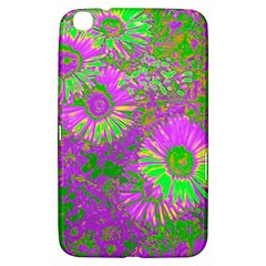 Amazing Neon Flowers A Samsung Galaxy Tab 3 (8 ) T3100 Hardshell Case