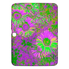 Amazing Neon Flowers A Samsung Galaxy Tab 3 (10 1 ) P5200 Hardshell Case