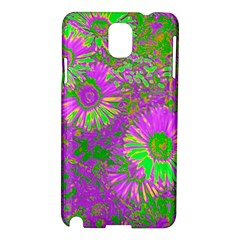 Amazing Neon Flowers A Samsung Galaxy Note 3 N9005 Hardshell Case