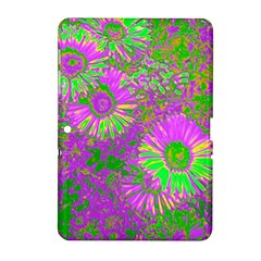 Amazing Neon Flowers A Samsung Galaxy Tab 2 (10 1 ) P5100 Hardshell Case