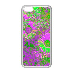 Amazing Neon Flowers A Apple Iphone 5c Seamless Case (white)