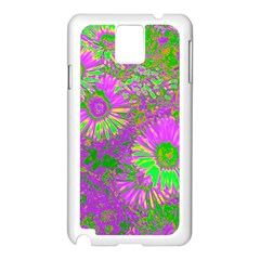 Amazing Neon Flowers A Samsung Galaxy Note 3 N9005 Case (white)
